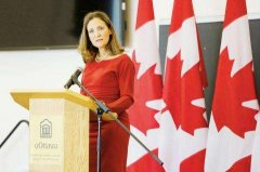 Canada's Foreign Minister calls for countries to value education rather than guessing employment hots