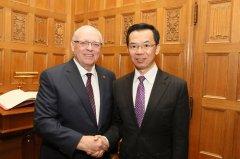 驻加拿大大使卢沙野会见加拿大联邦参议长富里