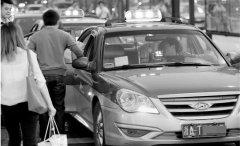 杭州街头的出租车 为何越