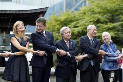 UN chief highlights plight of r