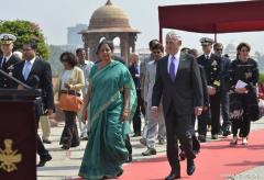 U.S. defense secretary arrives in New Delhi on two-day visit