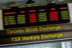 CANADA STOCKS-TSX near flat as telecom losses offset resource share gains