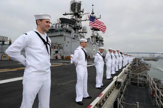 资料图片:美国海军士兵。(图片来源于网络)
