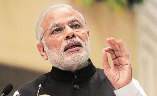 印度总理莫迪呼吁印巴双方停火一起去抗贫。(图源:巴基斯坦Geo电视台)