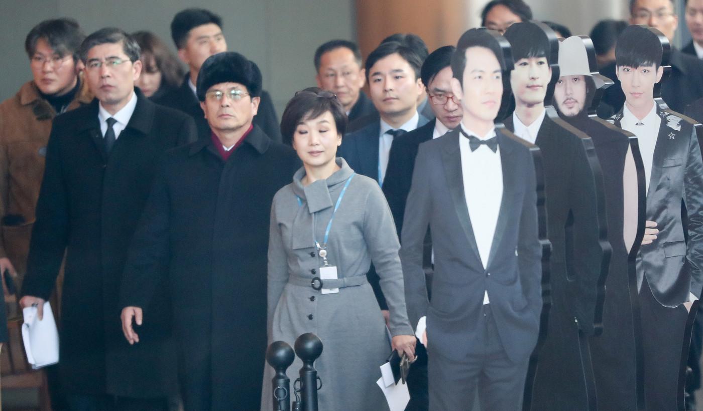 27日,朝方人员考察韩国MBC电视台