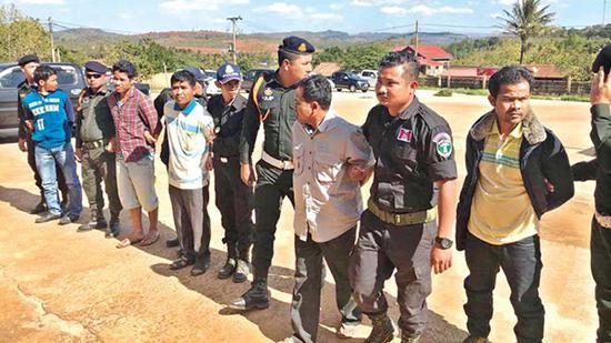 5名犯罪嫌疑人已被逮捕,正在接受讯问。