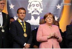 法国总统马克龙获国际查理曼奖