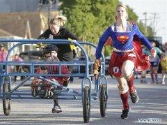 Cloverdale Bed Race held in Surrey, Canada