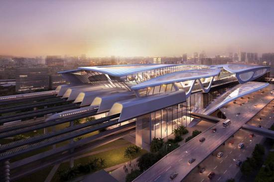 新隆高铁规划图 来自《海峡时报》