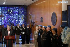 UN marks Int'l Day of UN Peacekeepers in New York