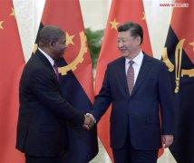 Chinese President Xi meets Angolan president