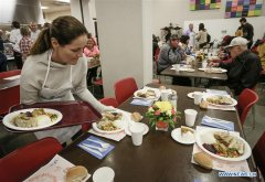 Vancouver's Union Gospel Mission serves free meals on Canada's Thanksgiving Day