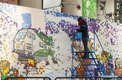 LEGO Mystery Mural Build event held in Toronto, Canada