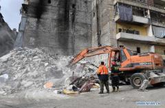 11 killed in building collapse in Syria's Aleppo