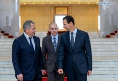 Russian defense minister meets al-Assad in Syria