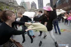 Int'l Pillow Fight Day event held in Vancouver, Canada