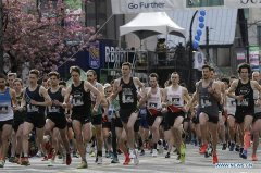 Runners participate in 35th Vancouver Sun Run in Canada