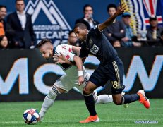 Vancouver Whitecaps draws with Philadelphia Union 1-1 at MLS match