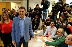 Socialist Party leads in Spanis