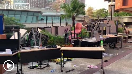 HK seeks peaceful solution to standoff at university