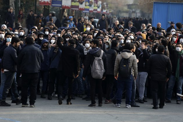 Iranian Students Stage Noisy Ra