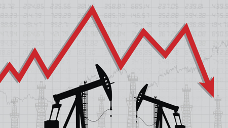 Oil crashes, fears of 'price wa