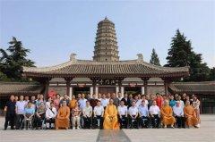 陕西凤翔县各宗教团体一行前往法门寺