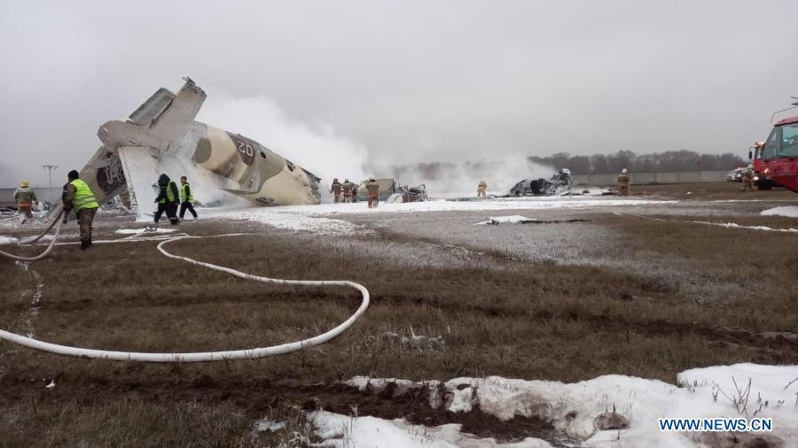 4 killed, 2 injured in military transport aircraft crash in Kazakhstan