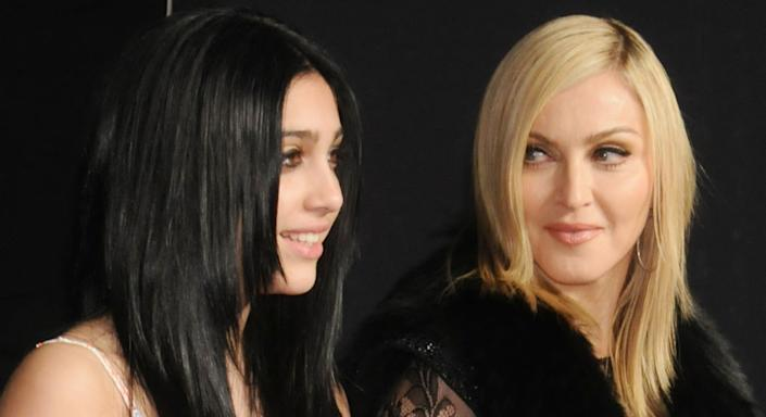Madonna's daughter Lourdes embraces armpit hair as the pair pose for a selfie